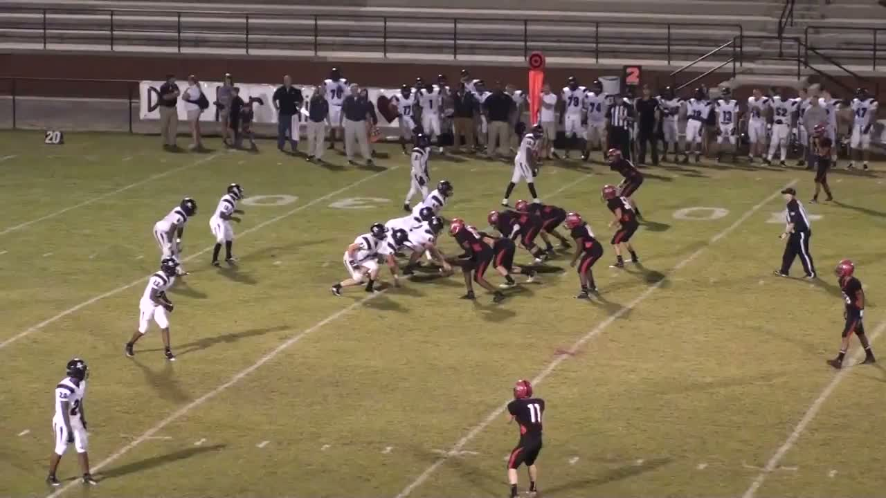 Alabama saint clair county odenville - Kelvin Johnson Playing Football Against Cleburne County During The 2013 2014 Season For Saint Clair County High School In Odenville Al