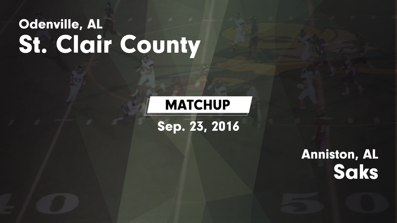 Alabama saint clair county odenville - Matchup St Clair County Vs Saks 2016