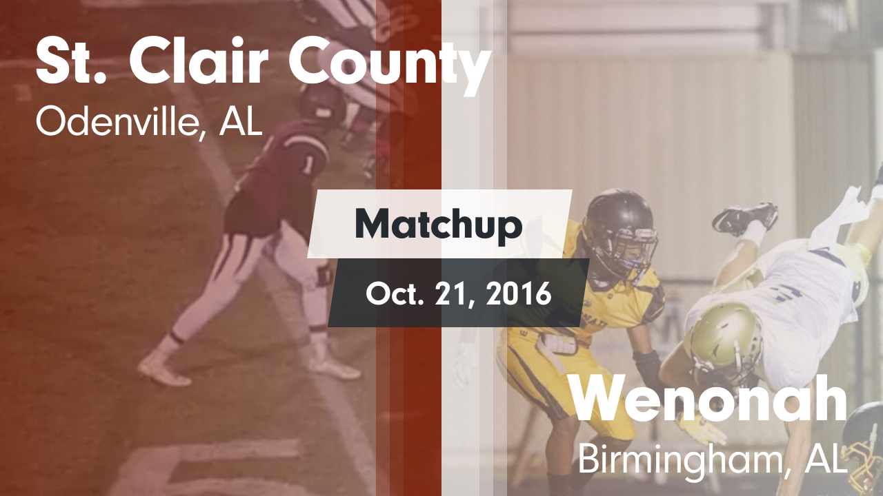 Alabama saint clair county odenville - Matchup St Clair County Vs Wenonah 2016