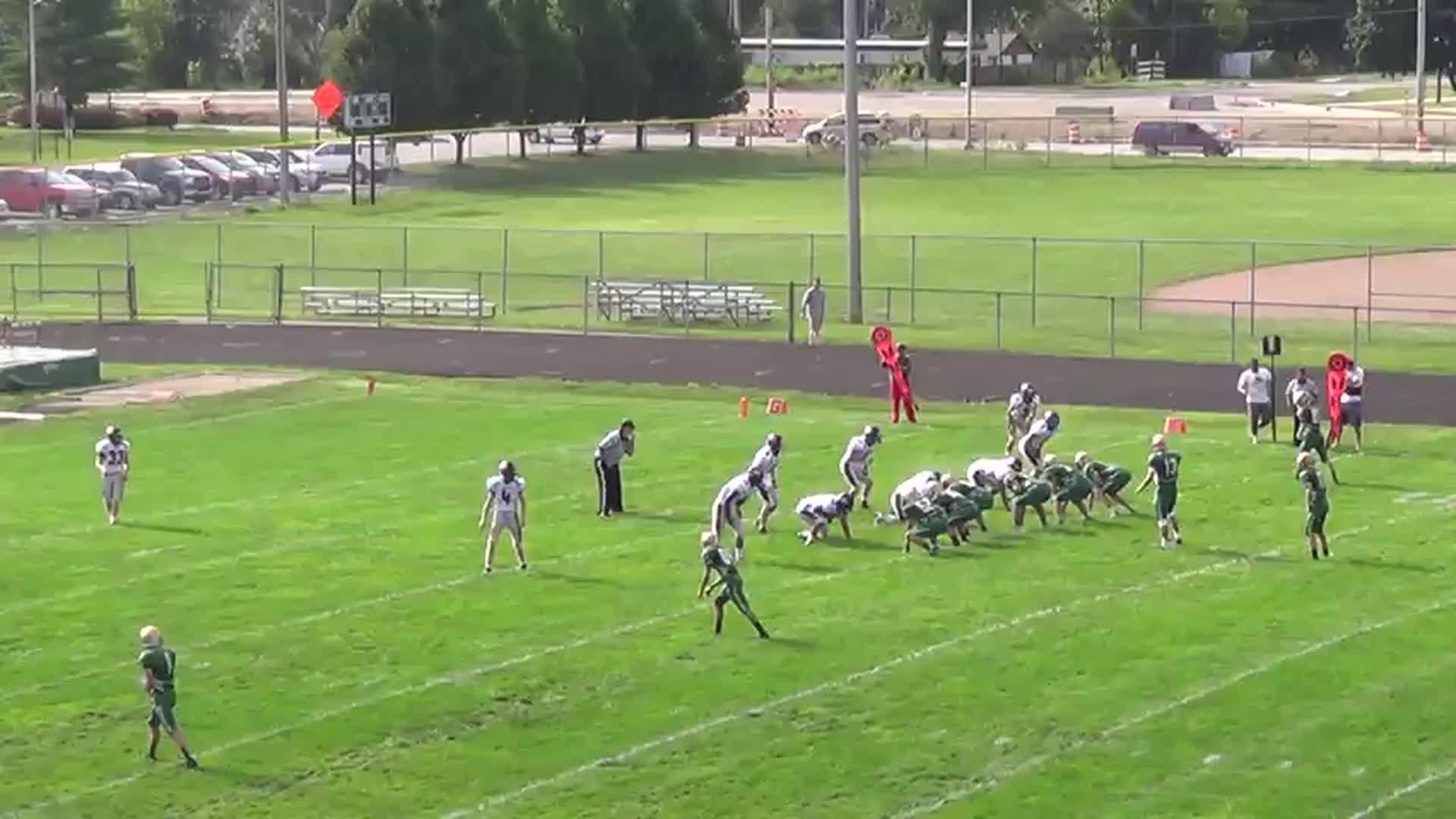 Braden Breedlove's interception playing football for