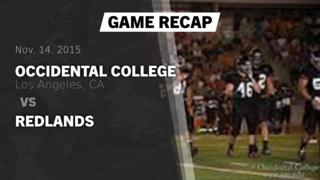 Mens Varsity Football Occidental College Los Angeles California